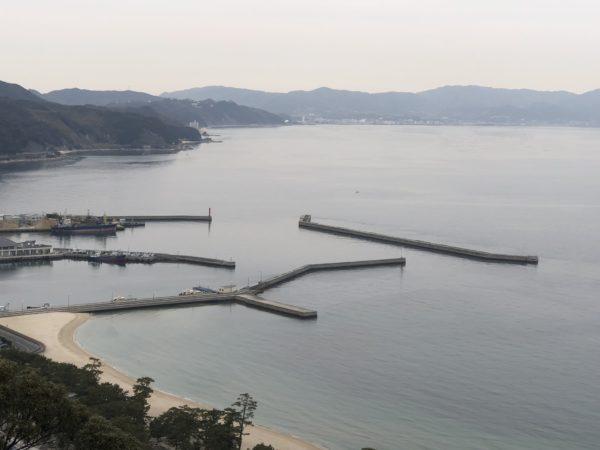 洲本城から見る洲本港