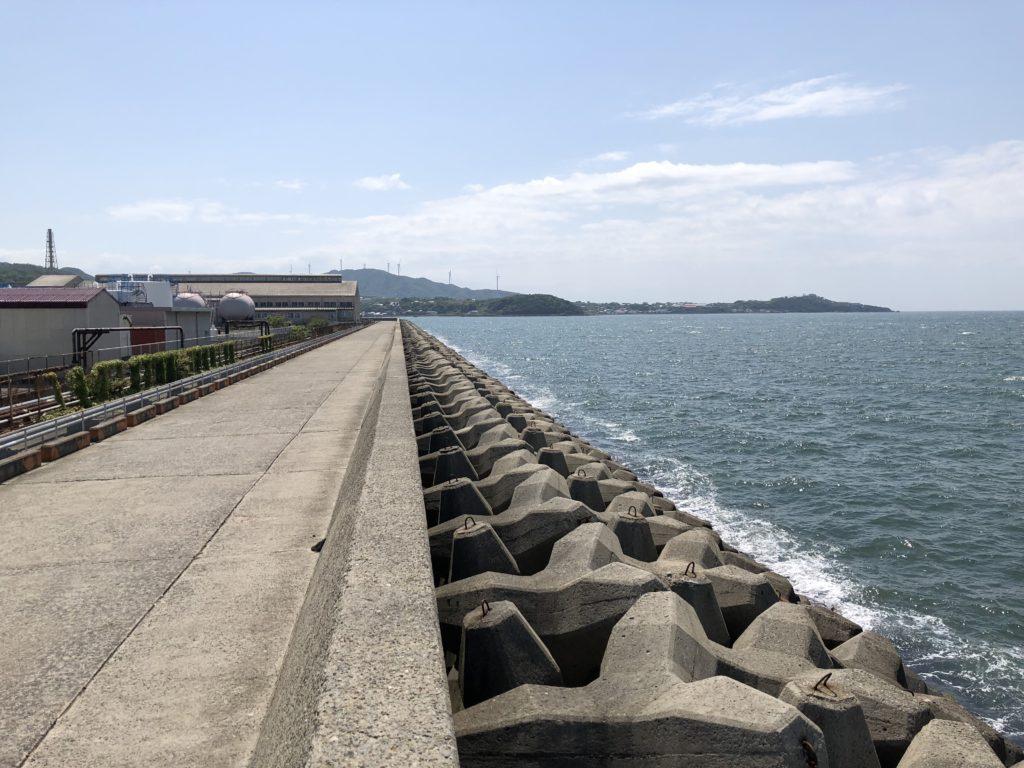湊港 南側