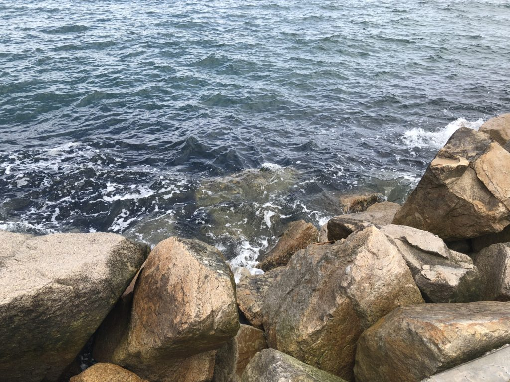 慶野松原の南波止 岩