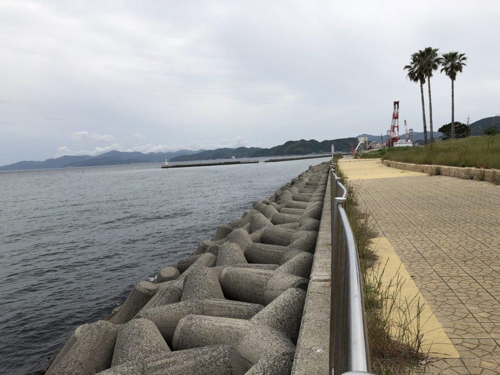 生穂新島 南側