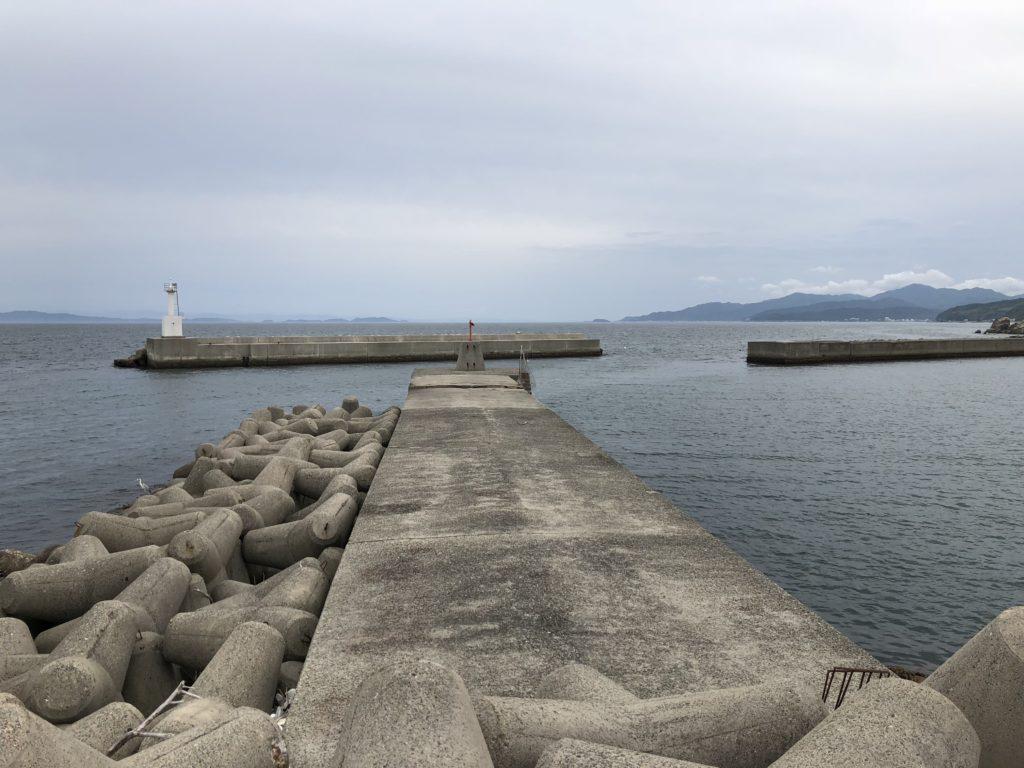 塩田新島 南向き防波堤
