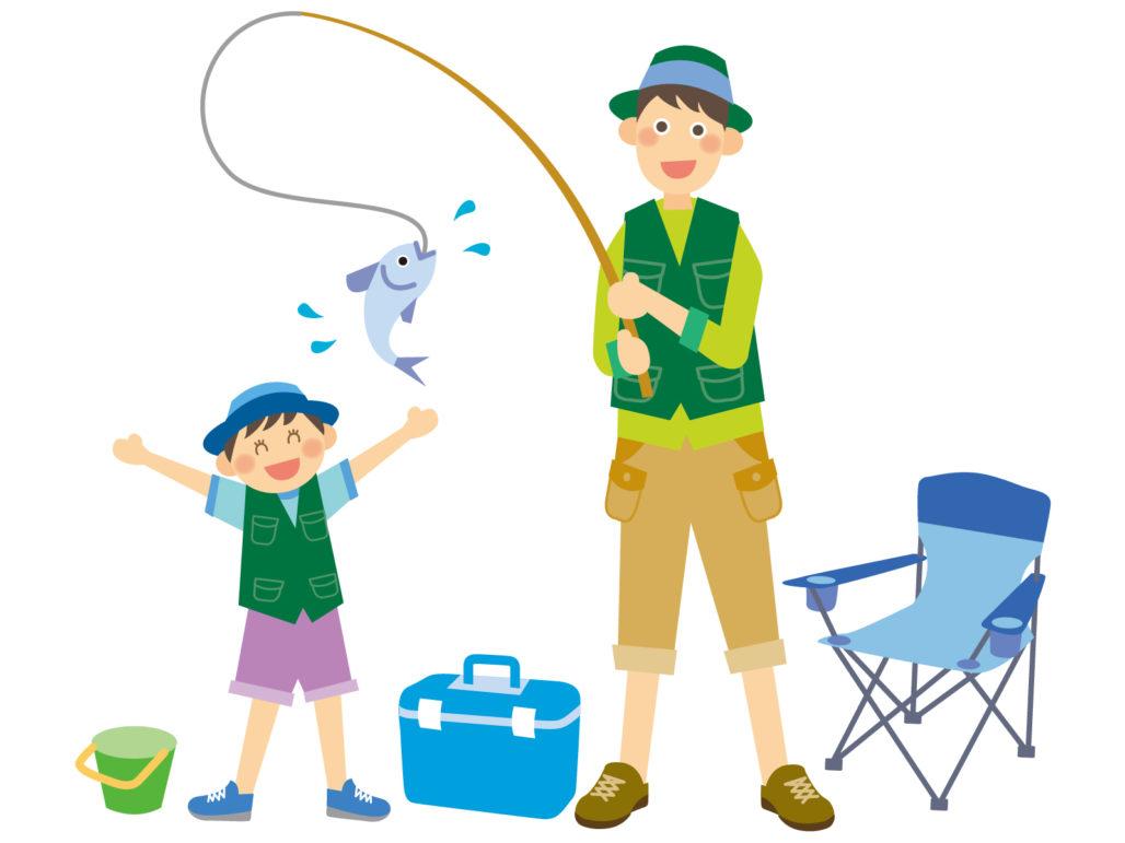 釣りを楽しむ家族