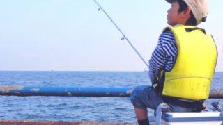 釣りをしている子供