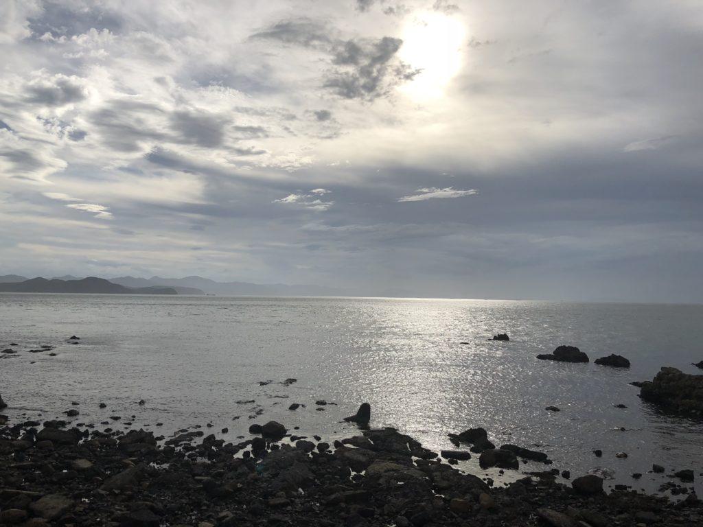 木場海岸の夕日