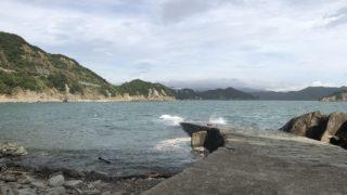 鳥取の波消護岸