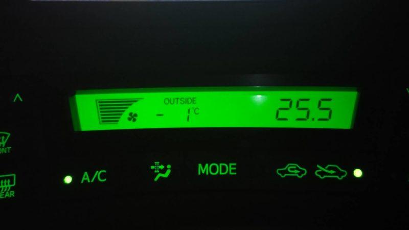 外気温が氷点下