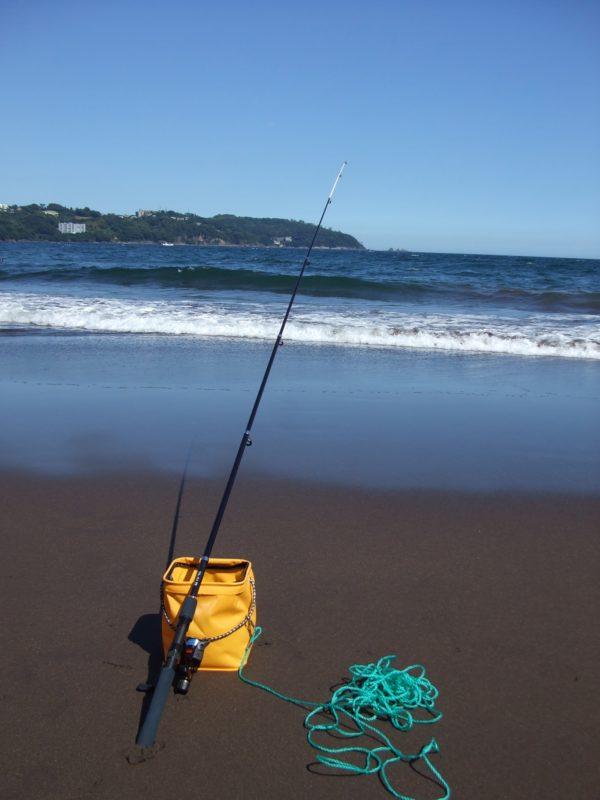 砂浜での釣り